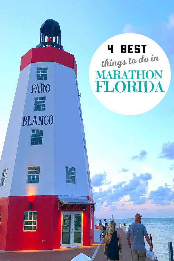 view of Faro Blanco Lighthouse and Marina - things to do in Marathon Florida