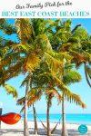Key West beach with palm trees and hammocks