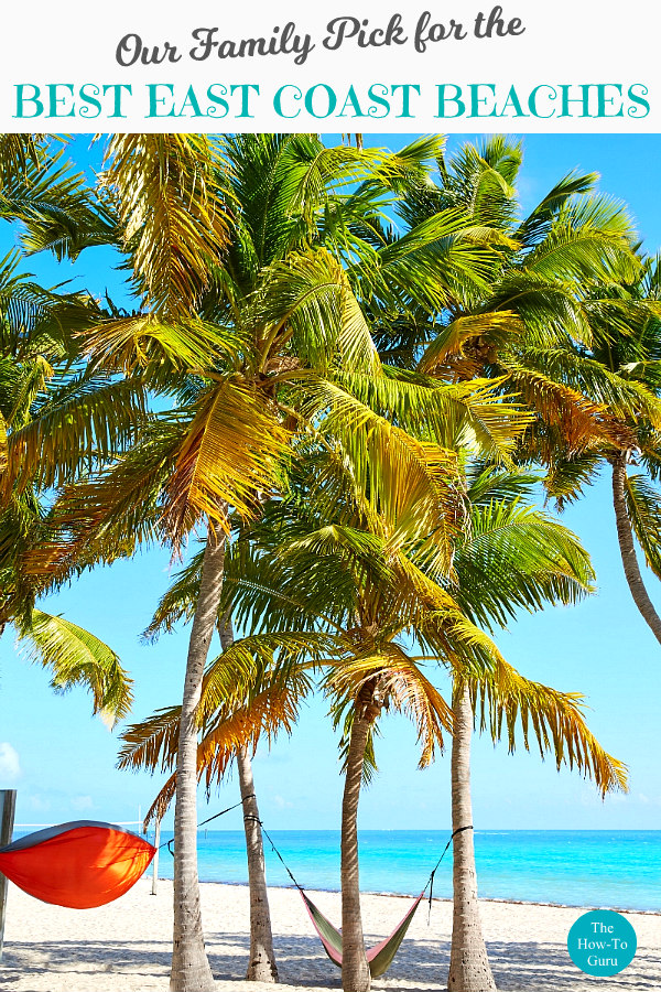 Key West Beach with hammock and palm trees for best east coast beaches