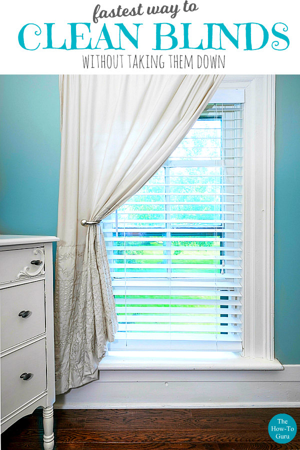 image of bedroom window and blinds for best way to clean blinds