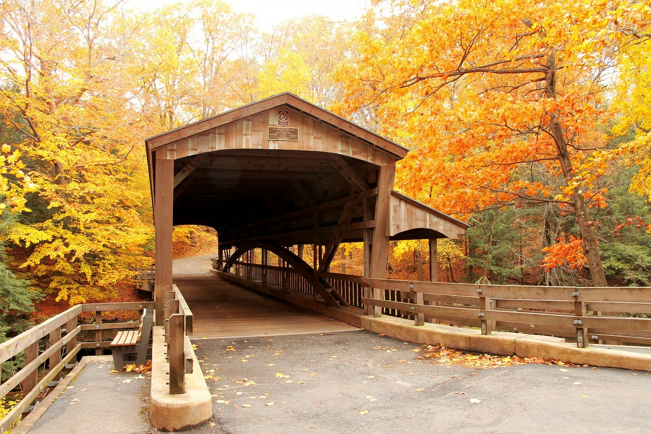 Best Weekend Getaways for fall foliage overload, dreamy drives, & fairy tale hiking trails - Alabama Covered Bridges