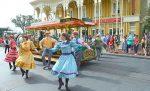 view of Main Street Disney dancers & Disney World Tips and Secrets