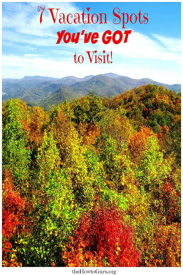 Fall foliage when at vacation spots in georgia