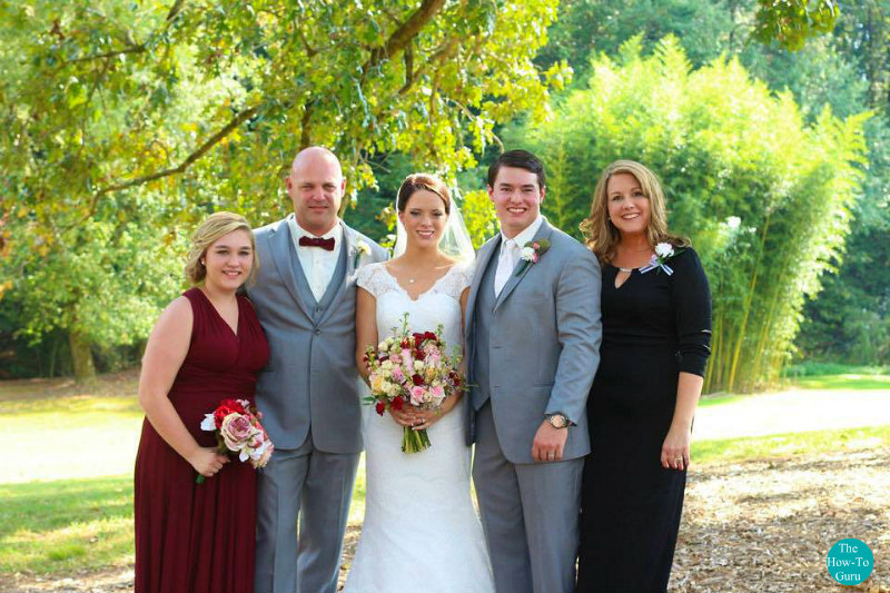The How-to Guru and family at son's wedding