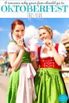 Oktoberfest 2018 Girls dressed in German traditional costumes