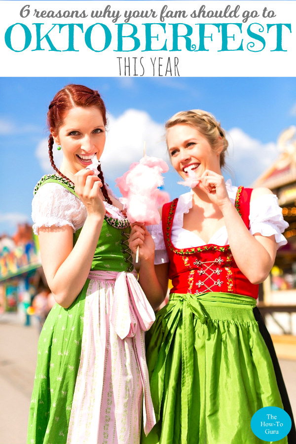 Oktoberfest 2018 Girls dressed in German traditional costumes