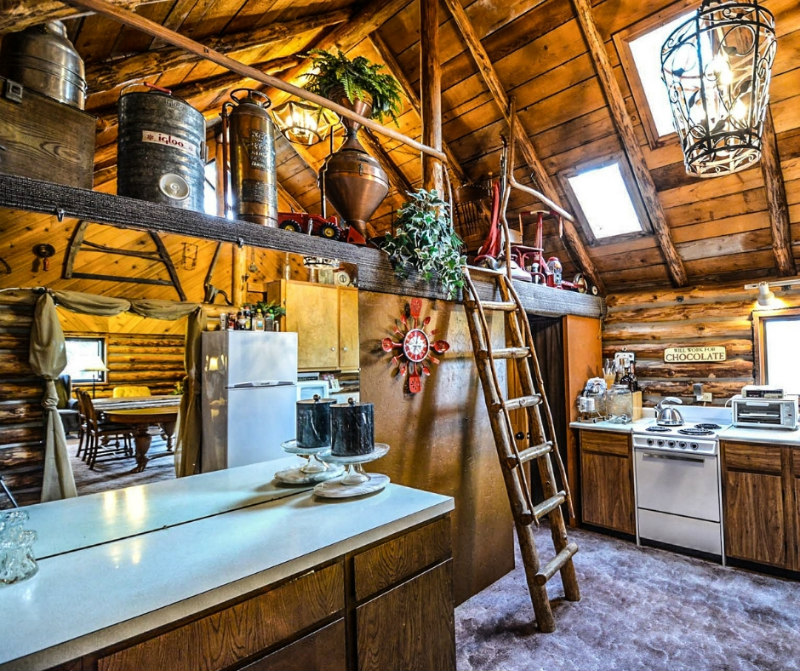 cozy cabin kitchen for best places to travel in October