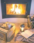 cozy living room with fireplace & how to make your home cozy