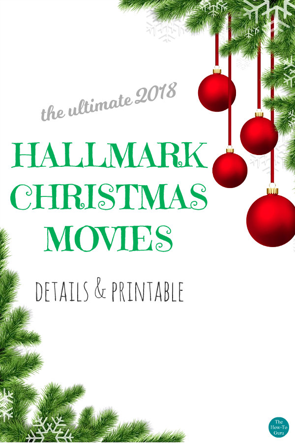 close up of Christmas movies 2018 list flyer