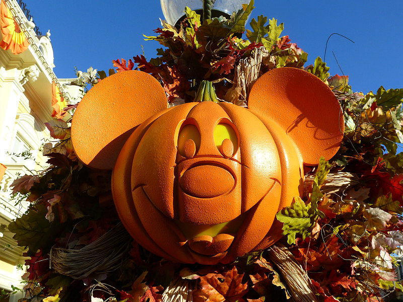 image of Halloween Mickey float at best places to travel in October