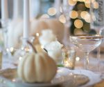 close up of elegant prepare for thanksgiving table
