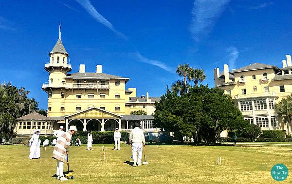 view of Jekyll Island Club Croquet