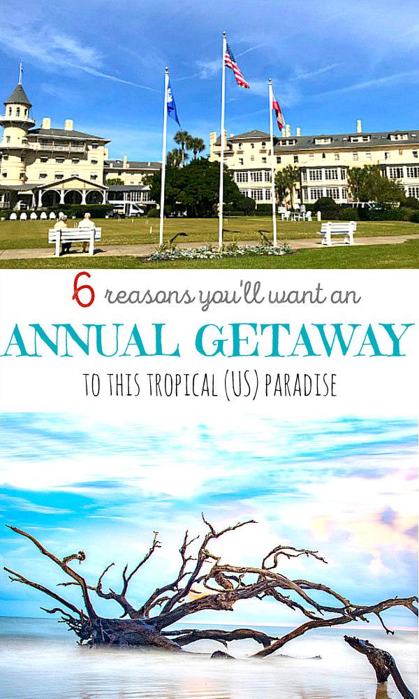 view of Jekyll Island Driftwood beach and Jekyll Island Club Resort