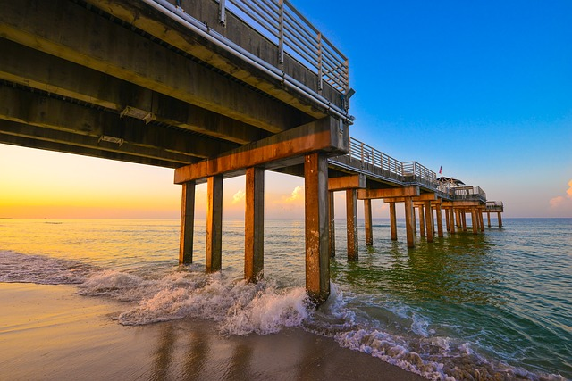 view of Alabama beach pier bottom - best Spring break destinations