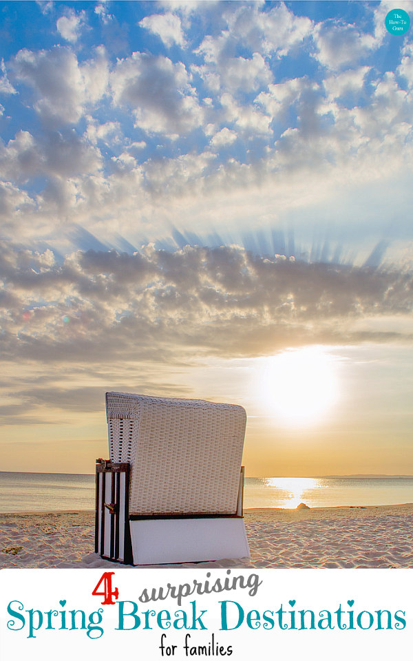 view of beach chair on beach sand - best spring break destinations for families