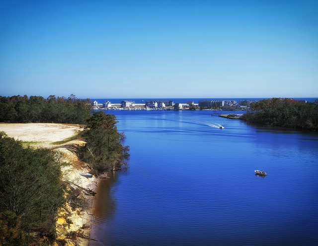 view of Wilmington waterfront - best Spring break destinations