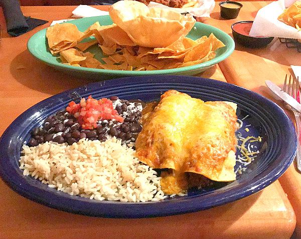 view of Aunt Chiladas mexican plate - things to do in Hilton Head