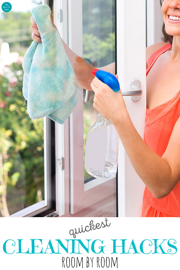 view of woman cleaning hacks with glass window