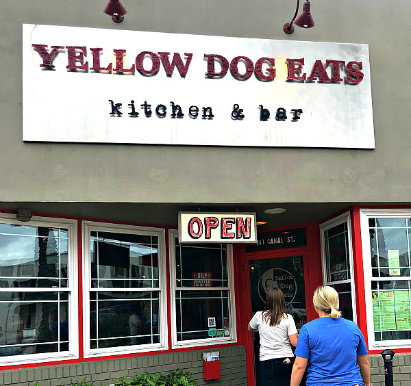storefront view of Yellow Dog Eats Restaurant