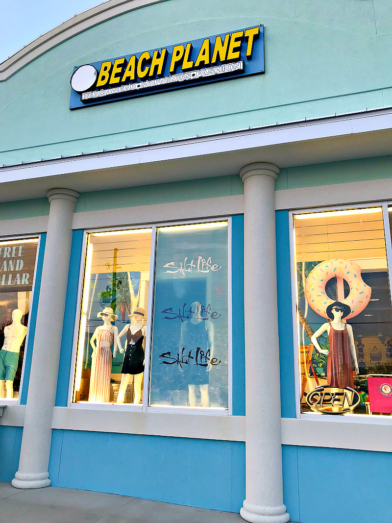 Shop front called Beach Planet in Cape San Blas Florida